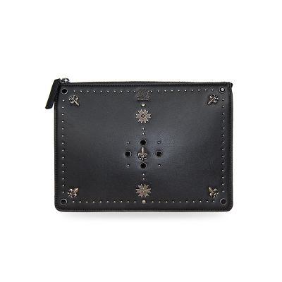 rock star clutch bag black